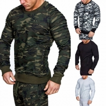 Moderne Sweater voor Heren met Lange Mouwen en Ronde Hals