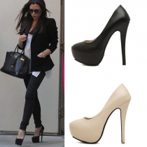 Mode Effen Kleur Super Hoge-hakken Stiletto Pumps