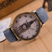 Retro Denim Armband Rond Wijzer Kwarts Horloge