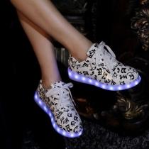 Mode Kleurrijk LED Gloeiend Stel Sneaker