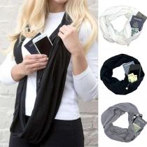Modern Multifunctionele Sjaal met Effen Kleur