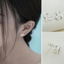 Eenvoudige Hartvormige Oorbellen van Aluminium