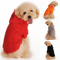 Moderne Hoodie voor Huisdieren met Effen Kleur en Capuchon