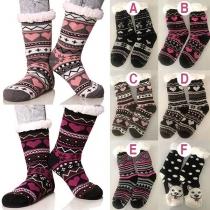 Moderne Sokken met Chic Patroon en Pluchen Voering