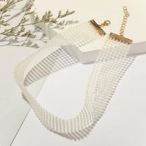 Modern Halsband met Kunstparels