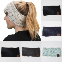 Modern Gebreid Haarband met Gemengde Kleuren