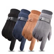 Moderne Touch Sensitive Handschoenen met Effen Kleur en Pluchen Voering