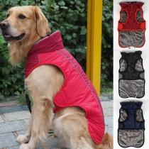 Modern Vest voor Huisdieren met Contrasterende Kleuren en Pluchen Voering