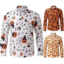 Modern Hemd met Polokraag Lange Mouwen en Chic Patroon