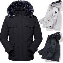 Moderne Gevoerde jas met Kunstbont bij de Capuchon