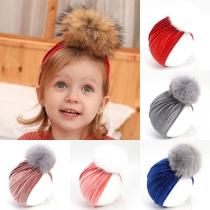 Modern Tulband voor Kinderen met Pompon