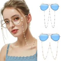 Moderne Antislipketting voor Brillen met Kunstparels