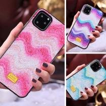 Modern Telefoonhoesje voor iPhone met Kleurverloop Ingelegd Strass