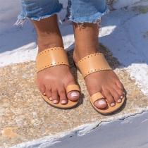 Eenvoudige Open Sandalen met Platte Hakken
