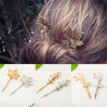 Haarspeld in Frisse Stijl in Blad- en Boomtakvorm