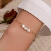 Eenvoudig Armband met Ingelegde Pareljes
