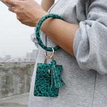 Creatief Armband met Sleutelhanger stijl Franjeshanger Luipaardpatroon en Etui