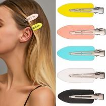 Moderne Haarspelden met Eendenbekvorm in Snoepkleur 5-delig / Set