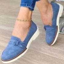 Moderne Schoenen met Platte Hakken en Ronde Neuzen