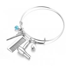 Cretive Armband met Hangers in de vorm van Schar Kam en Haardrogerhanger