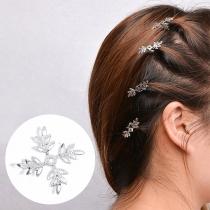 Chic Haarspeldenset in Sneeuwvlokvorm voor Vlechtjes 5 Stuks/Set
