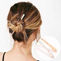 Eenvoudige Haarspeld van Aluminium in Staafjesvorm