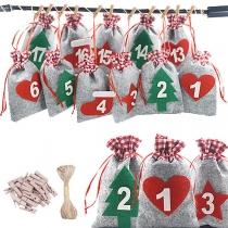 Creatieve Kerstboomdecoratie Zakjess voor Snoep en Cadeaus als Adventskalender voor Volwassenen en Kinderen voor in de Kerstboom