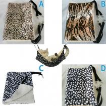 Moderne Hangmat Slaapzak voor Huisdieren met Chic Patroon en Pluche Voering