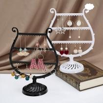 Creatieve Multifunctioneel Opbergrek in Wijnglasvorm voor Oorbellen