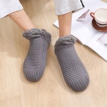 Creatieve Gebreide Sokken/Slofjes van Warm Pluche in Effen Kleur voor Dames en Heren