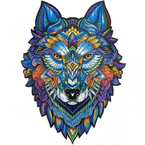 Houten Puzzel in de vorm van Majestic Wolf