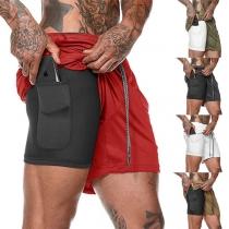 Moderne Sportieve Shorts voor Heren met Elastische Taille