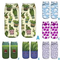 Schattige Korte Sokken met 3D en Cartoon-Motief 2 Paar / Set