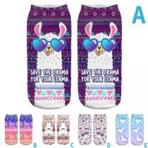 Schattige Korte Sokken met Cartoon-Motief 2 Paar / Set
