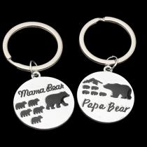 Leuke Sleutelhanger met Mama Bear en Papa Bear Hangers