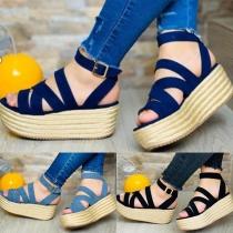 Moderne Open Schoenen met Dikke Zolen en Vrije Tenen