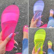 Casual Rubberen Slippers in Snoepkleur