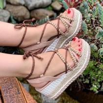 Schoenen in Boheemse Stijl met Dikke Zolen en Vrije Tenen