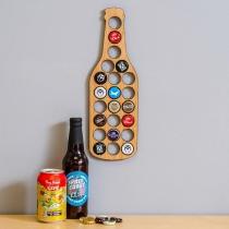 Creatieve Bierflesdoppenhouder in de vorm van een Bierfles