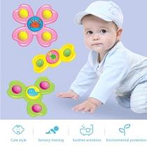3 STUKS Tolspeelgoed met Zuignap en Cartoon Dierenafbeeldingen voor Baby's en Peuters 3 Stuks / Set