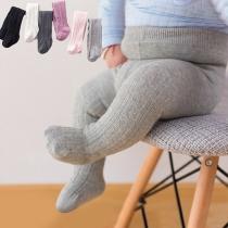 Eenvoudige Effen Gekleurde Panty's voor Baby's en Peuters