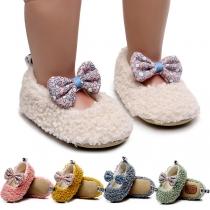 Leuke Kinderschoenen van Pluche met Kleurrijke Strikjes voor Meisjes