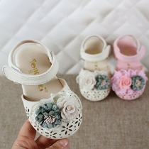 Schattige Gesloten Sandalen voor Baby's en Peuters met 3D-bloemen