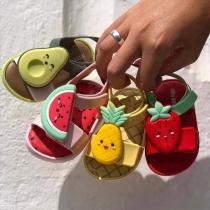 Schattige Sandalen voor Baby's en Peuters met Antislipzolen Open Teentjes en Fruitvormen