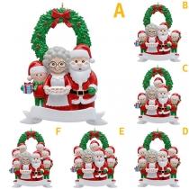 Leuke Doe-Het-Zelfdecoratie met de Kerstmanfamilie