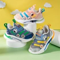 Leuke Ademende Antislip Baby-Peutersneakers met Cartoon Dierenmoitv