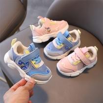 Moderne Ademende Antislip Baby-Peutersneakers met Klittenbandsluiting