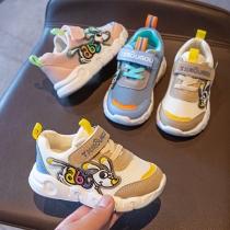 Moderne Ademende Antislip Kindersneakers in Contrasterende Kleuren met Cartoonmotief en Tule