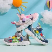 Moderne Ademende Sneakers voor Baby's en Peuters in Contrasterende Kleuren met Tule en Zachte Zolen