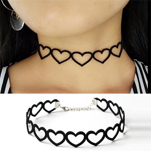 Schattige Stijl Uitgesneden Harten Choker Halsband